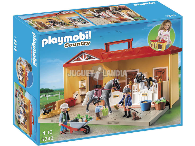 Playmobil Establo de Caballos Maletin