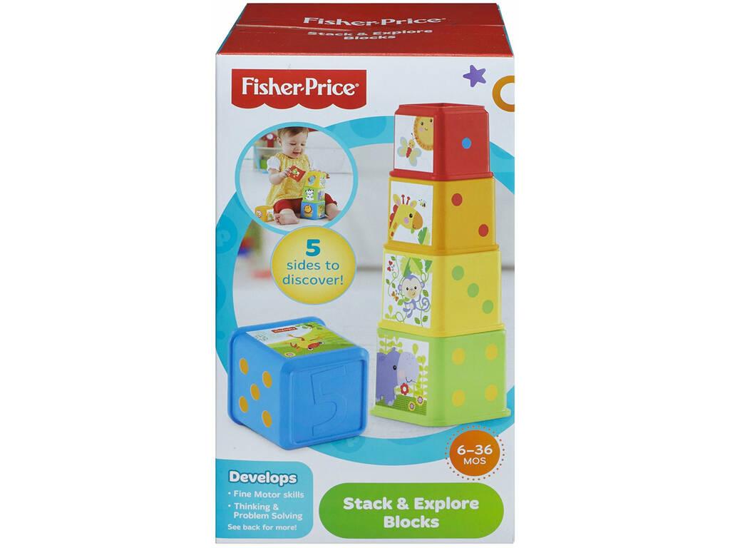 Fisher Price Bloques Apila y Descubre Mattel CDC52