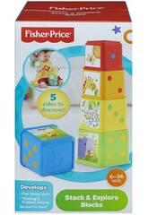 imagen Bloques Fisher Price Apila y Descubre Mattel CDC52