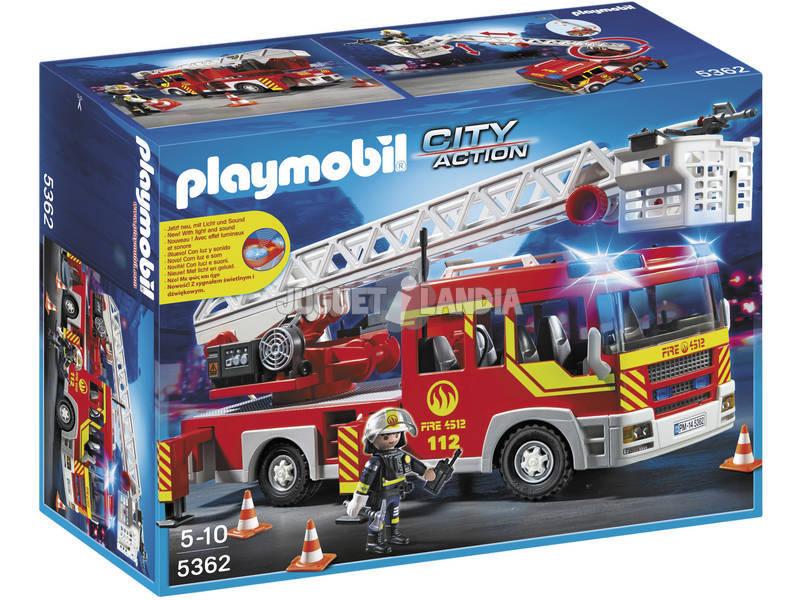Playmobil caminhão de bombeiros e escada