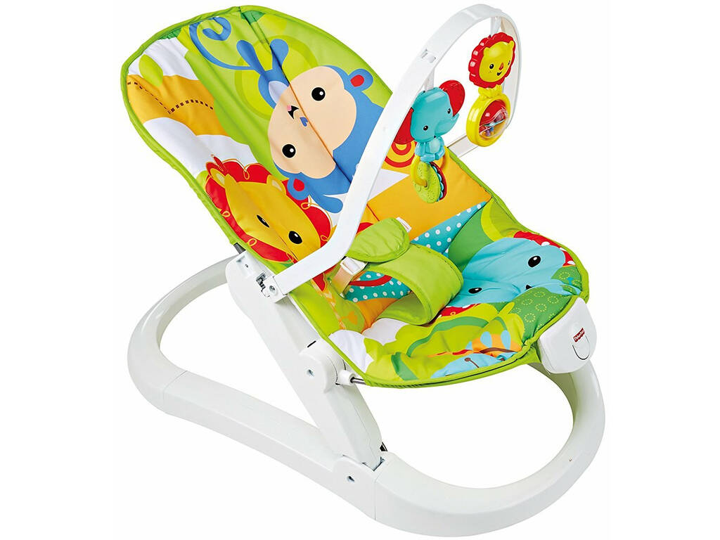 Hamaca Plegable Fisher Price Animalitos de la Selva Mattel CMR20