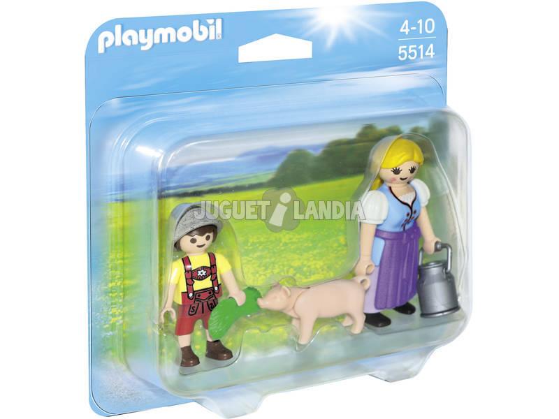 Playmobil Duo Pack Campesina y Niño