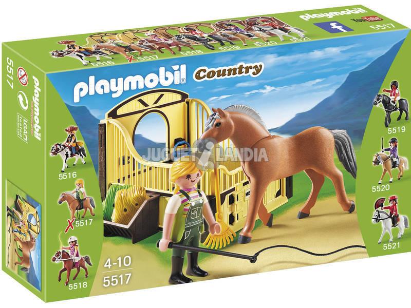 Playmobil Caballo Fiordo Noruego con Establo