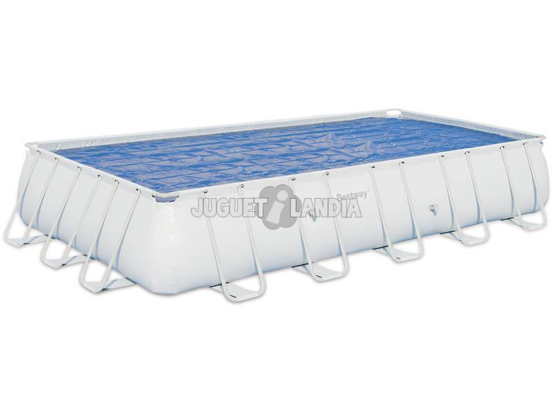 Cubierta para piscina de 671x366 cm bestway 58254 for Cubierta piscina bestway