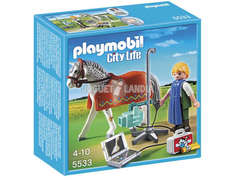 Playmobil Caballo con Tecnico de Rayos X