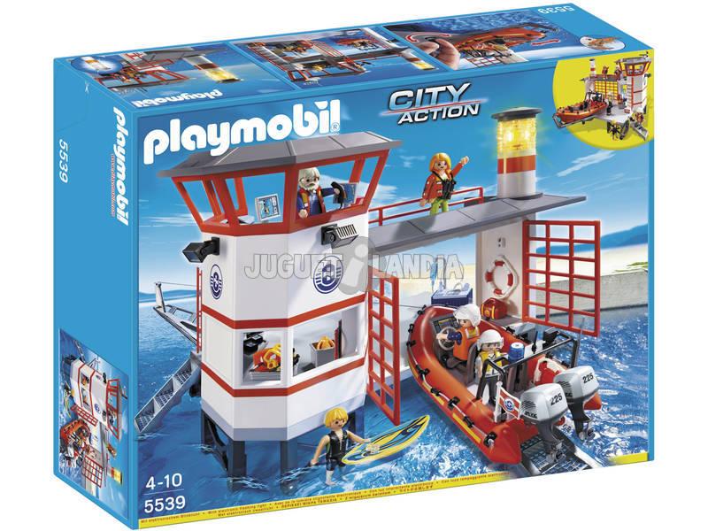 Playmobil Estação Guarda - costas com Farol