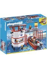 Playmobil Station Garde-côte avec Phare
