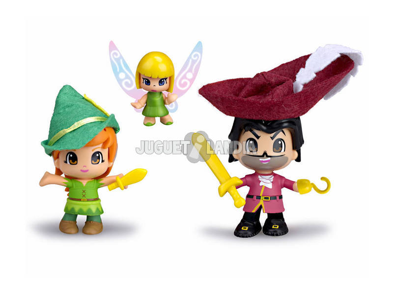 Pinypon Figuras Peter Pan, Capitão Gancho e Sininho Famosa 700012738