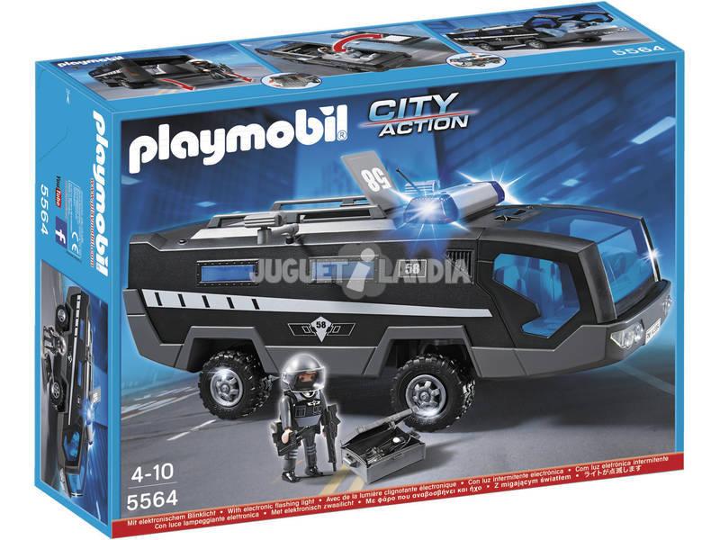 Playmobil Mezzo Anfibio Squadra Speciale con Luci e Suoni