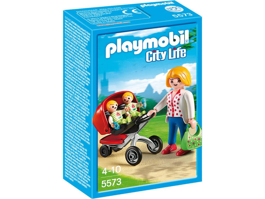 Playmobil Mama con Carrito de Gemelos