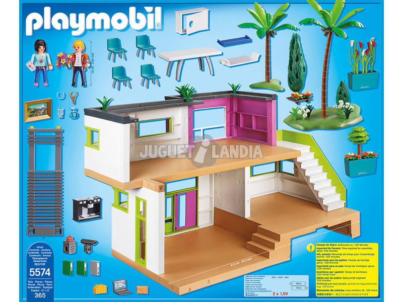 Playmobil mansion moderna de lujo juguetilandia for Playmobil casa de lujo