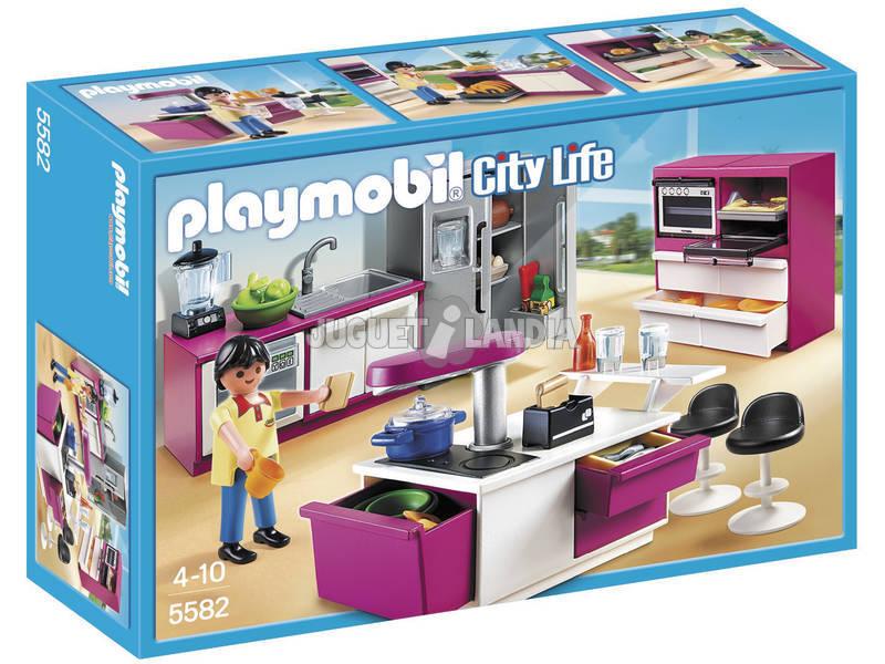 Playmobil Cucina con Isola Attrezzata