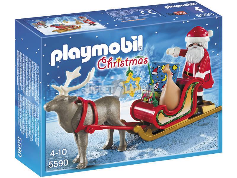 Playmobil Slitta con Babbo Natale e Renna