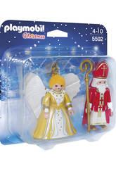 Playmobil San Nicolas y Angel Navidad