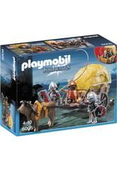 imagen Playmobil Caballeros del Halcon con Carruaje