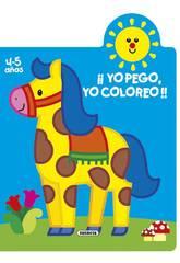 imagen Libro ¡Yo Pego, Yo Coloreo! 4-5 Años Susaeta S3262