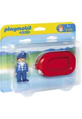Playmobil 1.2.3 Hombre con Balsa