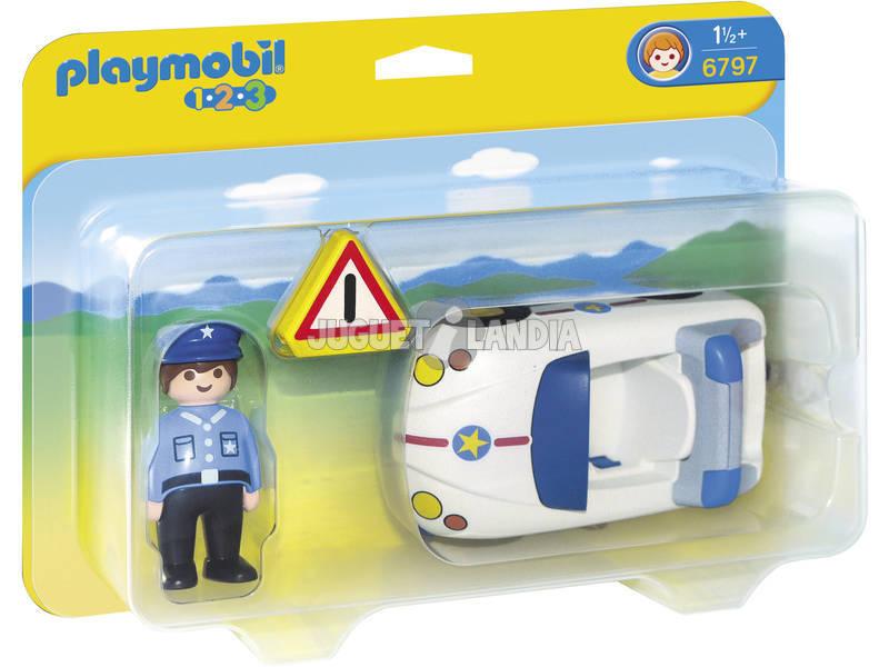 Playmobil 1.2.3 Voiture avec Policier
