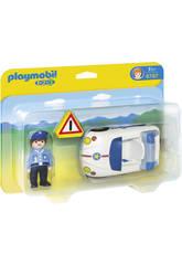 Playmobil 1.2.3 Coche con Policia