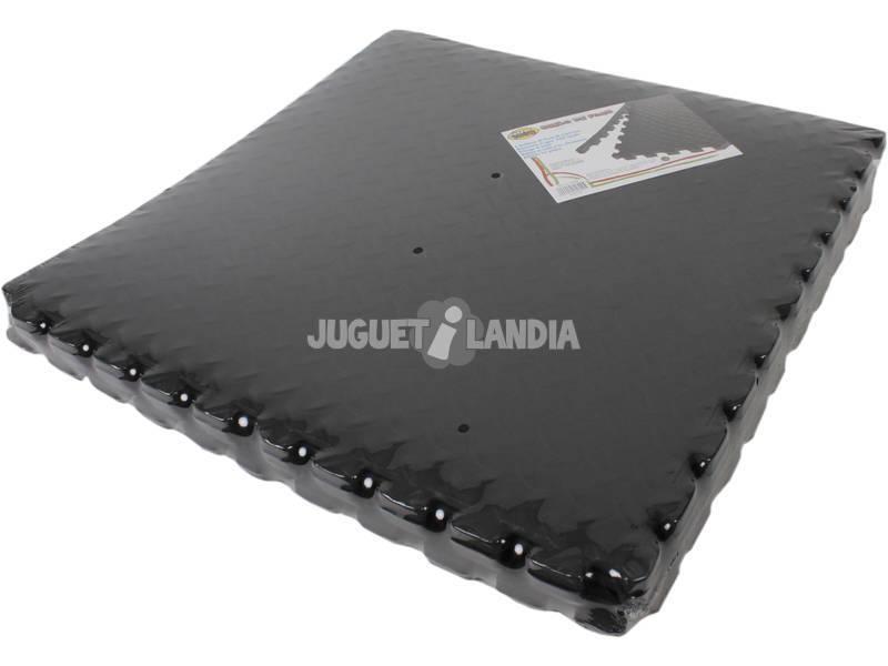 Sol Foam de 61x61 cm. 6 pièces noires
