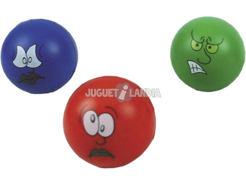 3 balles de 6 cm. anti-stress