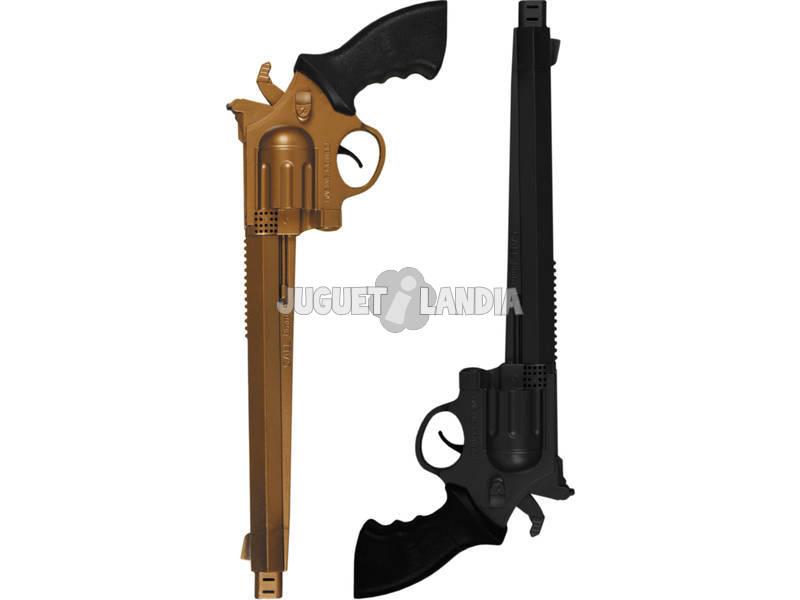 2 Revolvers de 36 cm.Oro Y Negra