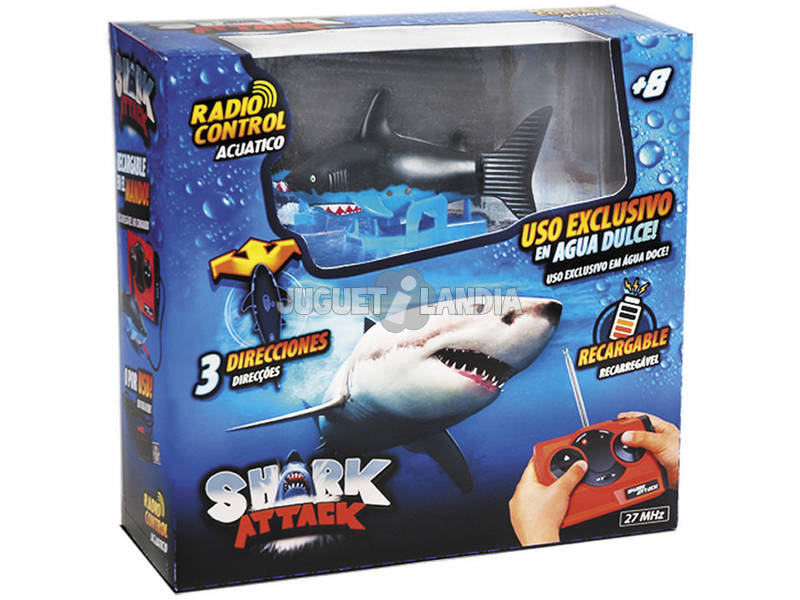 Squalo radiocomandato Shark Attack World Brands TR0017