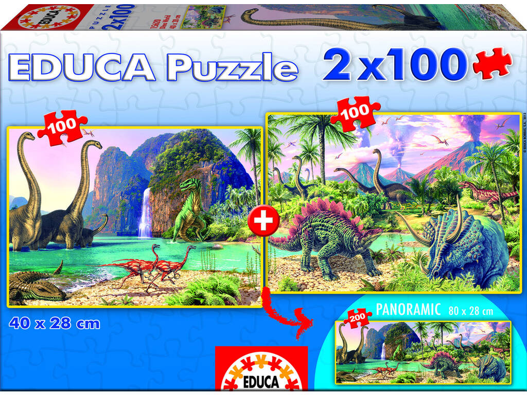 Puzzle junior 2X100 Dino World