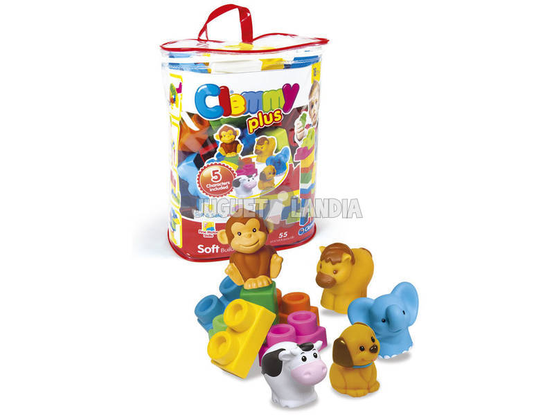 Clemmy Plus Bag 50 Blocos com 5 Personagens Clementoni 17136