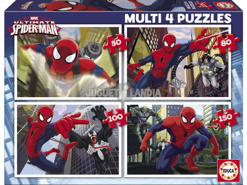 Puzzle 50 - 80 - 100 - 150 Ultimate Spiderman Educa 15642