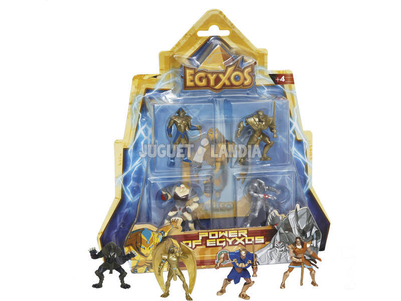 Egyxos Blister 4 Figuras + 4 Cartas