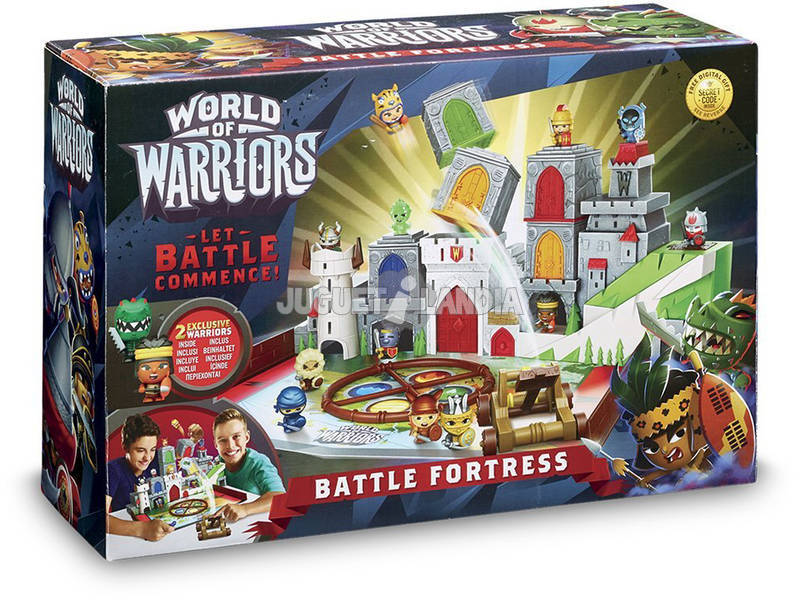 World Of Warriors La Fortaleza Playset + 2 Figuras