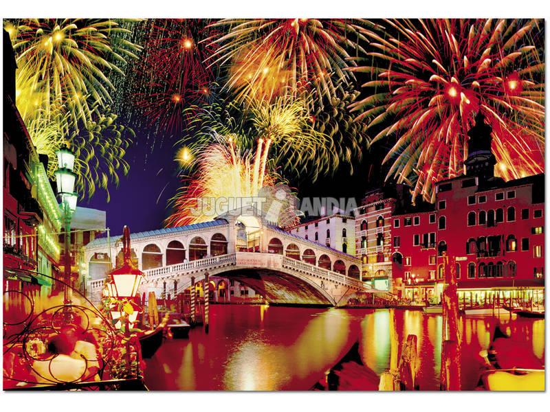 Puzzle 1500 Fête dans le Pont Rialto
