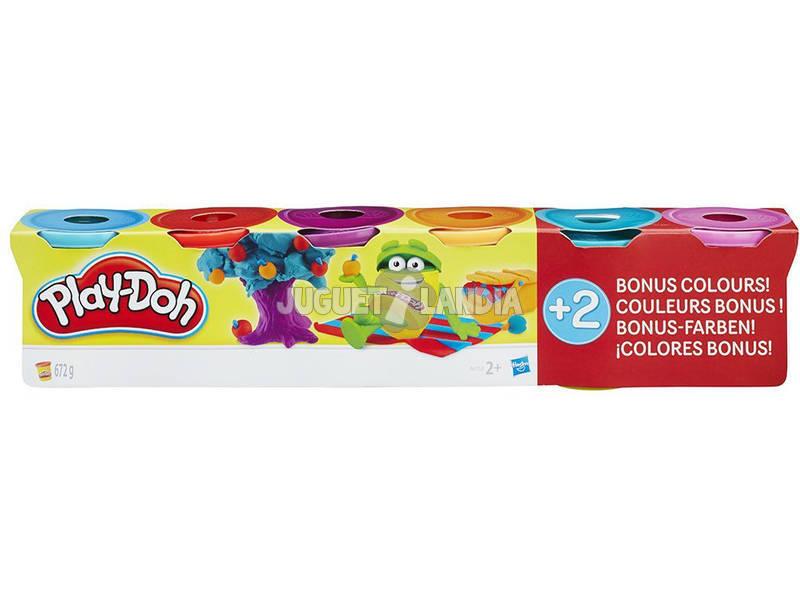 Playdoh Pack 4+2 Colores Brillantes
