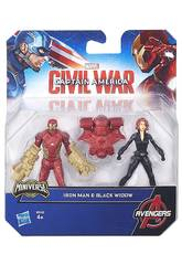 Capitán América Pack 2 Figuras 6 cm Civil War