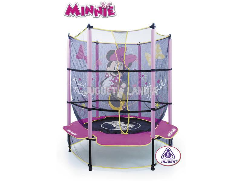 Minnie Trampolin 140 cm Ø x183 cm con red