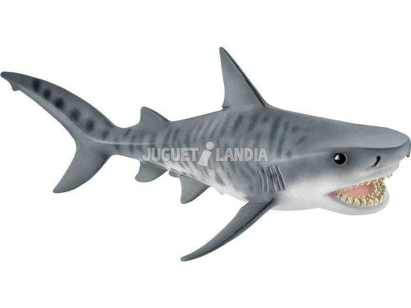 Tiburon Tigre 5x15x7cm. Schleich 14765