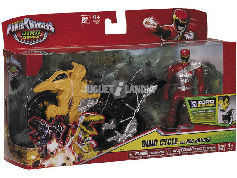 Power Rangers Moto Transformacion Dino Charge