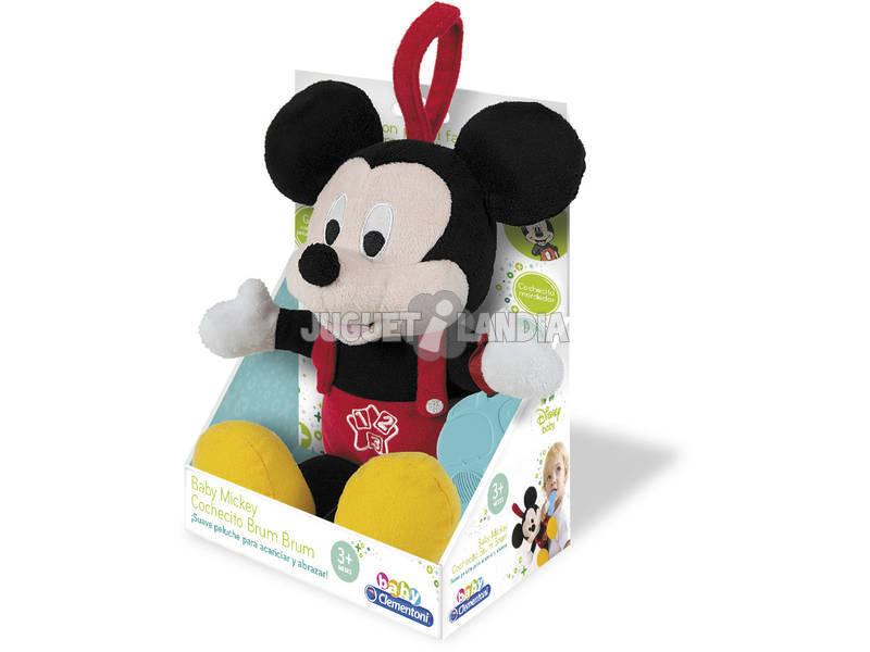 Bébé Mickey Peluche avec hochet à mordre