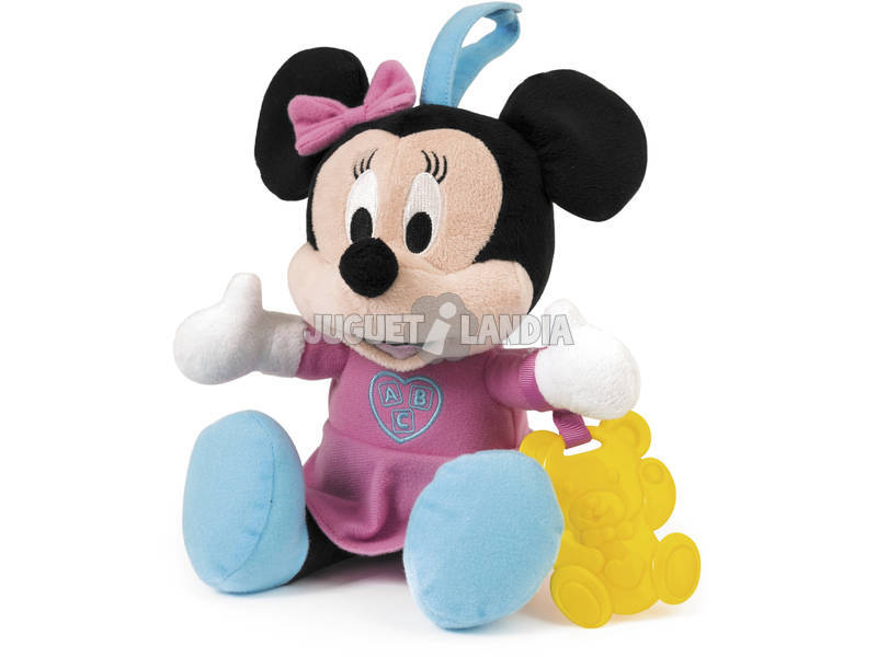 Canções alegres do bebê Minnie Plush com Clementoni Teether 65978