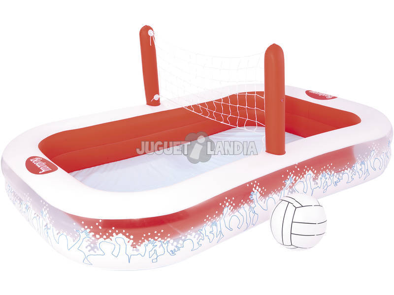Piscine 254x168x97 cm. avec Filets de Volley-ball