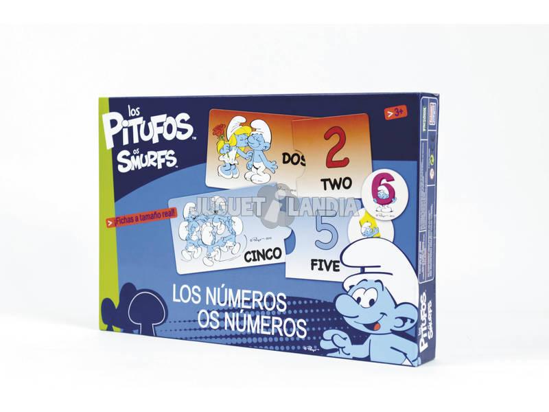Los Pitufos los numeros del 1 al 10
