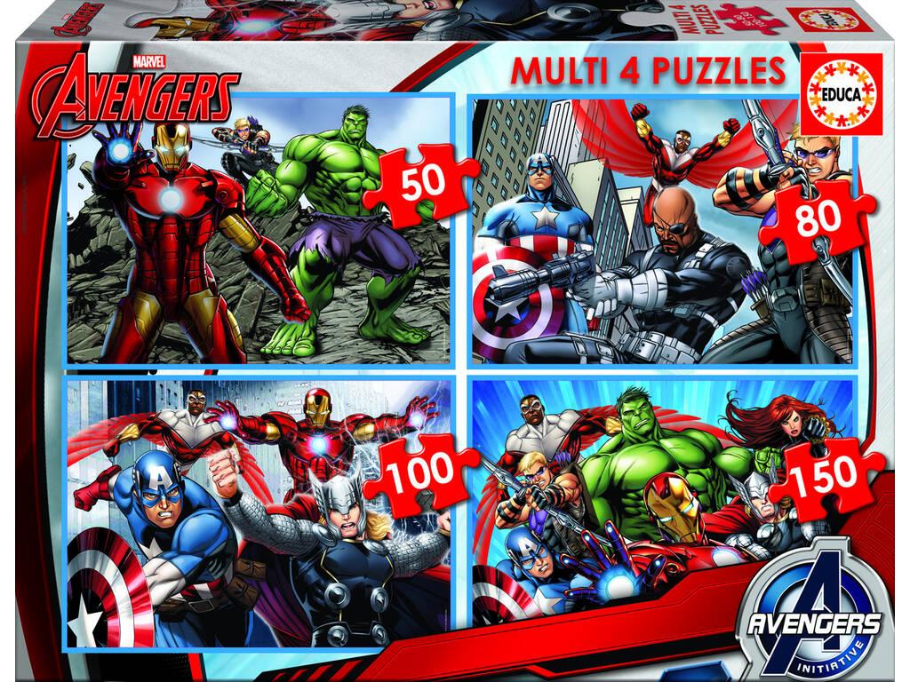 Quebra-cabeça 50-80-100-150 Vingadores Educa 16331