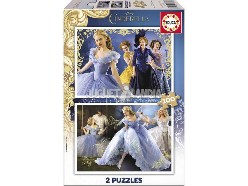 Puzzle 2X100 Cenerentola Bordo Dorato