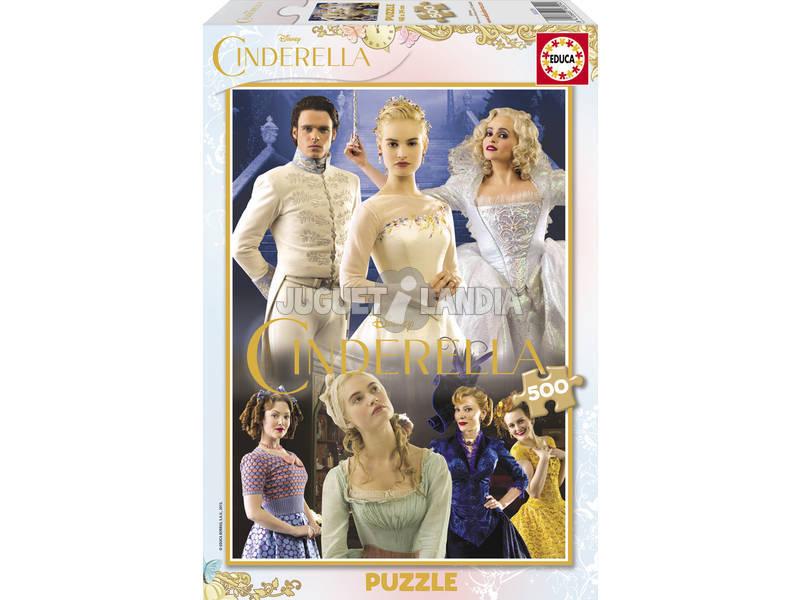 Puzzle 500 Cinderela Borda Dourada
