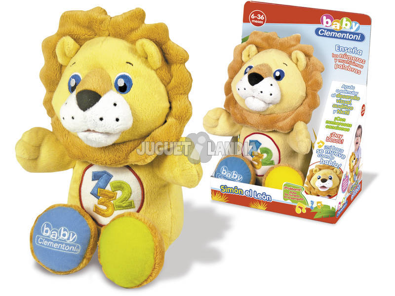 Simon le Lion Peluche Parlante