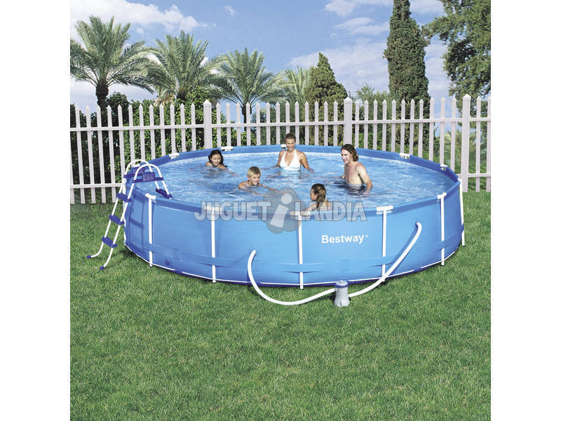 Acheter piscine d montable 457x91 cm bestway 56066 for Piscine demontable
