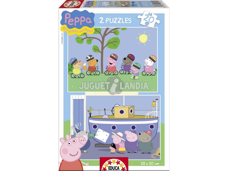 Puzzle 2X20 Peppa Pig Educa 15919