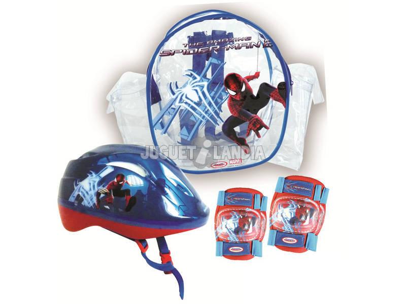 Spiderman Mochila con Casco y Protecciones