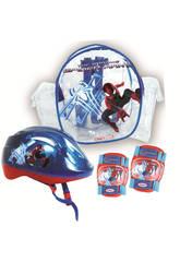 Spiderman Sc à Dos Avec Casque et Protections